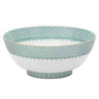 Green Lace Salad Bowl 9 in | Gracious Style