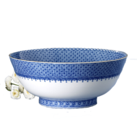 Blue Lace Salad Bowl 9 in | Gracious Style