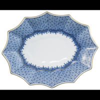 Blue Lace Small Fluted Tray 6.5 x 8 in | Gracious Style