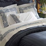 Sferra Saxon Embroidered Sheets, Duvet Covers | Gracious Style