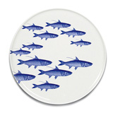 School of Fish Blue Serving Dishes by Caskata | Gracious Style
