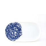 Peony Blue 12 in Oval Platter | Gracious Style