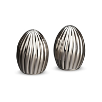 Carrousel Stainless Salt + Pepper Shakers
