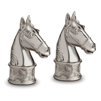 Horse Platinum Salt & Pepper Shakers