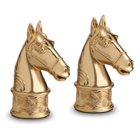 Horse Gold Salt & Pepper Shakers