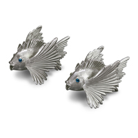 Fish Platinum Salt & Pepper Shakers