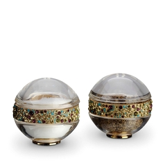 Pave Band Gold Multicolor Salt & Pepper Shakers