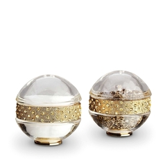 Pave Band Gold Jewel Salt & Pepper Shakers