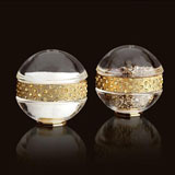 Pave Band Gold Jewel Salt Pepper Shakers Swarovski Crystal | Gracious Style