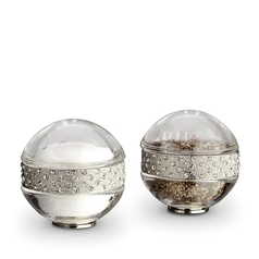 Pave Band Platinum Jewel Salt & Pepper Shakers
