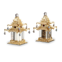 Pagoda Gold Salt & Pepper Shakers
