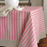 Linen Way Serenite Pink Stripe Table Linens | Gracious Style