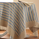 Linen Way Serenite Teal Stripe Table Linens &#124; Gracious Style