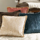 Abbey Velvet Throw Pillows by Sferra | Gracious Style