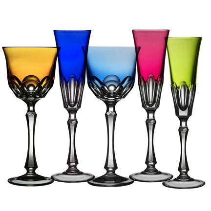 Nouveau Simplicity Color Glassware by Varga &#124; Gracious Style