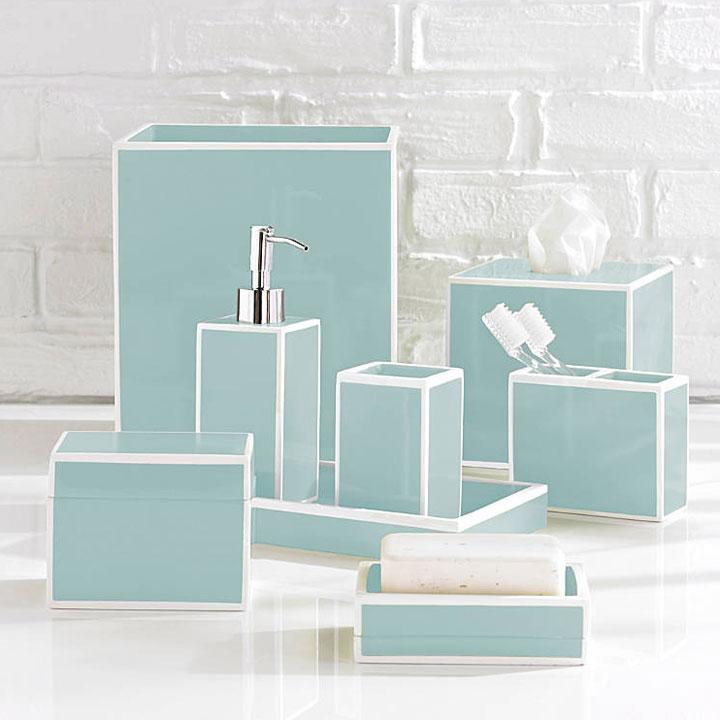 Home bath bath accessories soho blue bath accessories