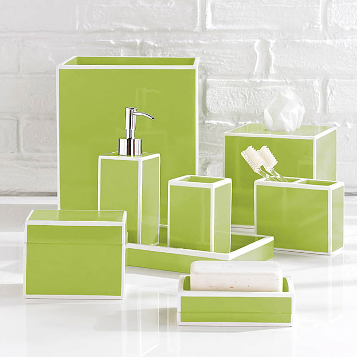 kassatex soho green bath accessories gracious style On bathroom accessories green