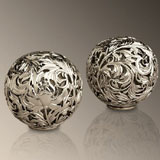 L'Objet Acanthus Platinum Salt & Pepper Shakers | Gracious Style