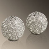Pave Sphere Salt Pepper Shakers Swarovski Crystals | Gracious Style