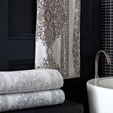 Trump Home Bedminster Damask Stripe Bath Towels | Gracious Style
