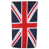Union Jack Vintage Flag White Cotton Beach Towel by Fresco | Gracious Style