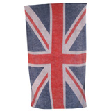 Union Jack Vintage Flag Khaki/Sand Cotton Beach Towel by Fresco | Gracious Style