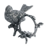 Pewter Song Bird Set of 4 Napkin Rings