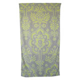 Venetian Brocade Lemon Grey Towels | Gracious Style
