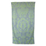 Venetian Brocade Grey Lime Towels | Gracious Style