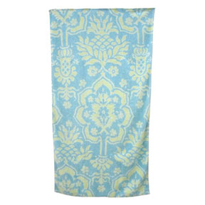 Venetian Brocade Sky/Mint Towels | Gracious Style