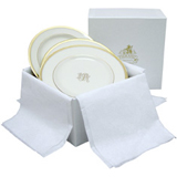 Signature Monogram Canape Plates, Gift Box of 6 | Gracious Style