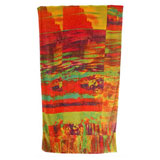 Abstract Watercolor Cotton Beach Towel by Fresco | Gracious Style