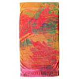 Abstract Watercolor Cotton Bath Towels by Fresco | Gracious Style
