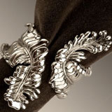 Acanthus Napkin Rings in Gold and Platinum | Gracious Style