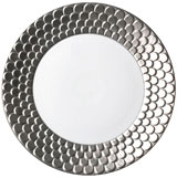 Aegean Sculpted Platinum Charger Plate | Gracious Style