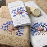 Anali Embroidered Bath Towels Agapantha &#124; Gracious Style