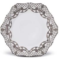 Alencon Platinum Porcelain Dinnerware from | Gracious Style