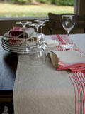 Amherst Striped Table Linens by Libeco | Gracious Style