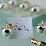 Apple Place Card Holders Silverplated | Gracious Style