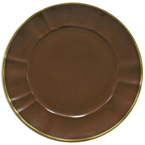 Chocolate Brown Charger Plate by Anna Weatherley | Gracious Style
