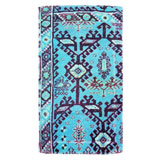 Aztec Blue Cotton Bath Mats by Fresco | Gracious Style