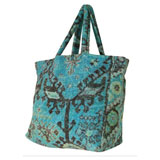 Aztec Blue Terry Tote Bag by Fresco | Gracious Style