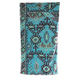 Aztec Blue Cotton Bath Towels by Fresco | Gracious Style