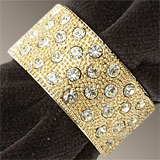 Gold Pave Band Napkin Rings with Swarovski Crystal | Gracious Style