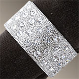 Platinum Bands Napkins Rings by L'Objet | Gracious Style