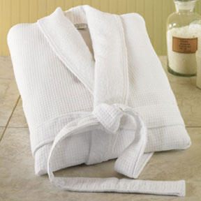 Cotton Bath Robes with Kimono, Waffle and Shawl Collars | Gracious Style