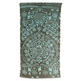 Bohemian Damask Aqua Cotton Bath Towels by Fresco | Gracious Style