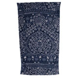 Bohemian Damask Royal Blue Cotton Beach Towel by Fresco | Gracious Style
