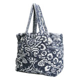 Bohemian Damask Royal Blue Terry Tote Bag by Fresco | Gracious Style