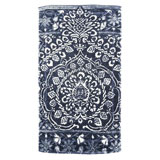 Bohemian Damask Royal Blue Cotton Bath Mats by Fresco | Gracious Style